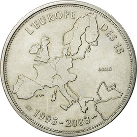 France, Medal, L'Europe des XV, Essai, 2003, MS(64), Copper-nickel