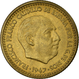 Coin, Spain, Francisco Franco, caudillo, Peseta, 1952, EF(40-45)