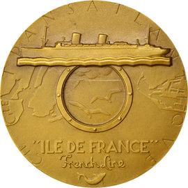 FRANCE, Shipping, French Fourth Republic, Medal, 1949, MS(60-62), Renard,...