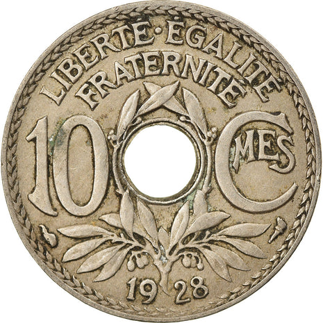 Coin, France, Lindauer, 10 Centimes, 1928, VF(30-35), Copper-nickel, KM:866a