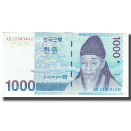 Banknote, South Korea, 1000 Won, KM:54a, UNC(65-70)
