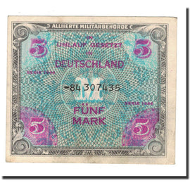 Banknote, Germany, 5 Mark, 1944, KM:193d, EF(40-45)