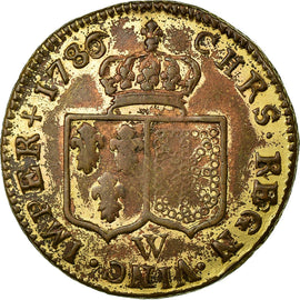 Coin, France, Louis d'Or, 1780, Lille, EF(40-45), Copper, Gadoury:361