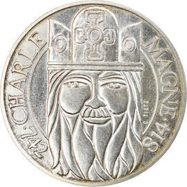 Coin, France, Charlemagne, 100 Francs, 1990, Pessac, ESSAI, MS(63), Silver
