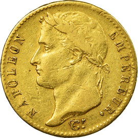 Coin, France, 20 Francs, 1815, Paris, Cent Jours, VF(30-35), Gold, KM:705.1