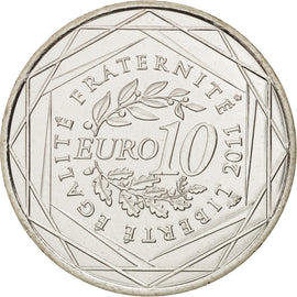Banknote, France, 10 Euro, 2011, MS(64), Silver, KM:1738