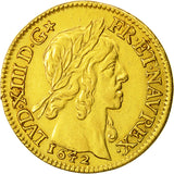 Coin, France, Louis XIII, Louis d'Or, 1642, Paris, AU(50-53), Gold, KM:136.1