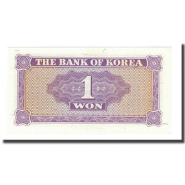 Banknote, South Korea, 1 Won, Undated (1962), KM:30a, UNC(65-70)