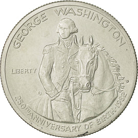Coin, United States, Half Dollar, 1982, U.S. Mint, Denver, MS(60-62), Silver