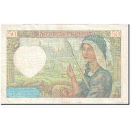 France, 50 Francs, Jacques Coeur, 1941, 1941-04-24, VF(30-35), Fayette:19.19