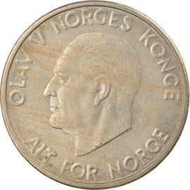 Coin, Norway, Olav V, 5 Kroner, 1968, EF(40-45), Copper-nickel, KM:412