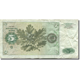 Banknote, GERMANY - FEDERAL REPUBLIC, 5 Deutsche Mark, 1960, 1960-01-02, KM:18a