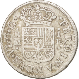 SPAIN, Real, 1751, Madrid, KM #369.1, EF(40-45), Silver, 3.14