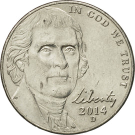 Coin, United States, 5 Cents, 2014, Denver, AU(55-58), Copper-nickel