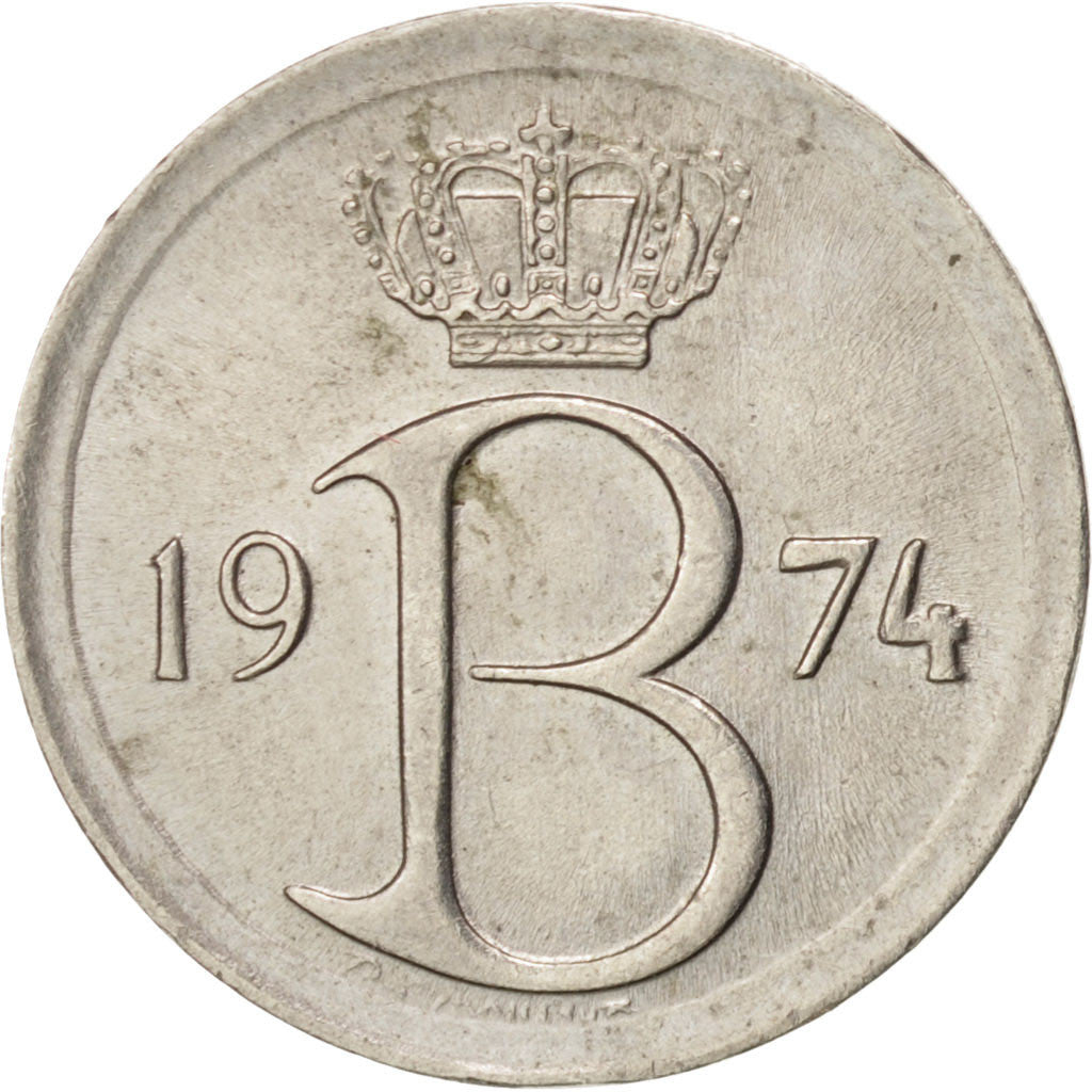 Belgium, 25 Centimes, 1974, Brussels, MS(60-62), Copper-nickel, KM:153.1