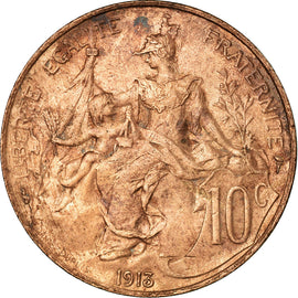 Coin, France, Dupuis, 10 Centimes, 1913, Paris, AU(50-53), Bronze, KM:843