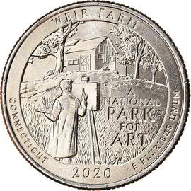 Coin, United States, Quarter, 2020, Philadelphia, Weir farm - Connecticut