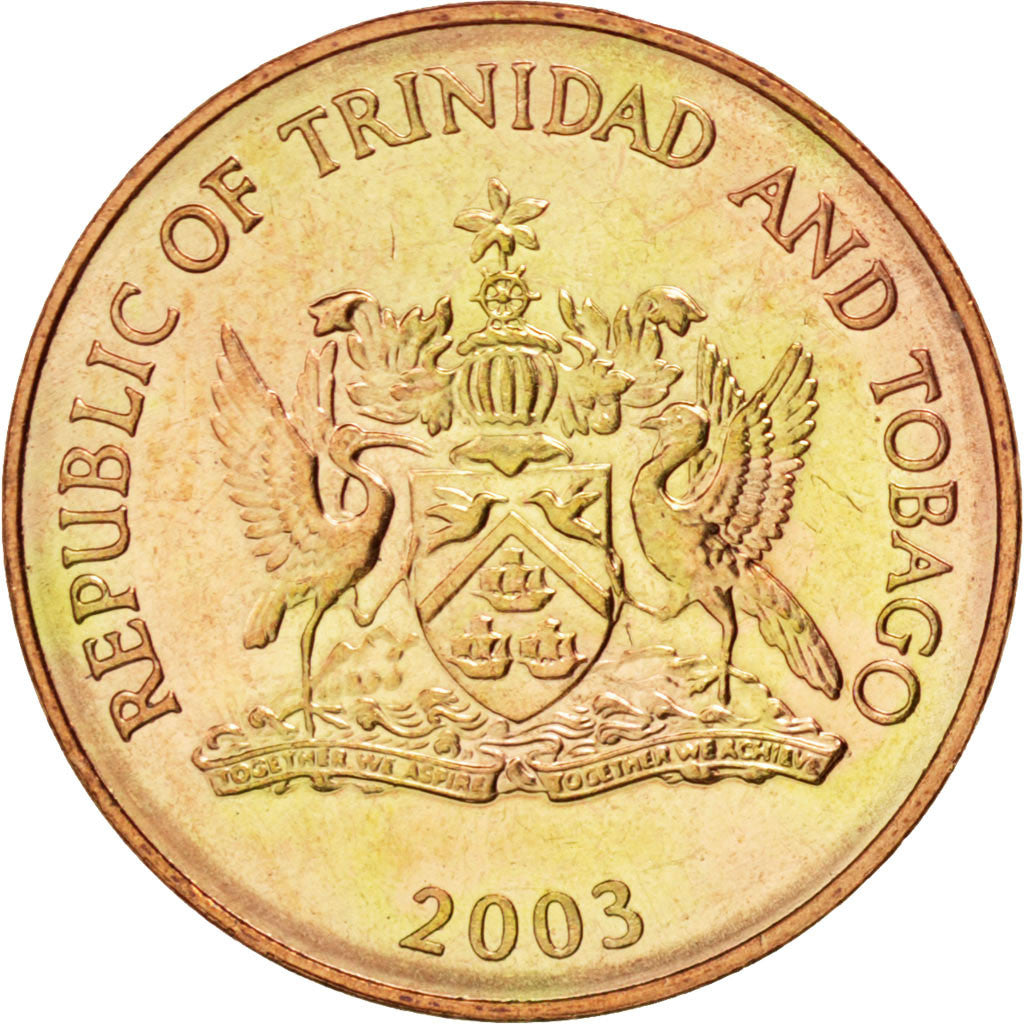 TRINIDAD & TOBAGO, Cent, 2003, KM #29, MS(63), Bronze, 17.76, 1.94