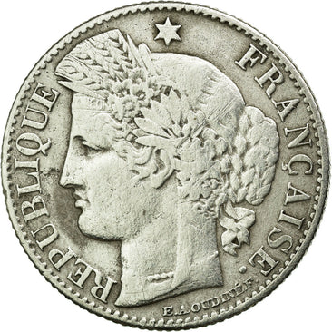 Coin, France, Cérès, 50 Centimes, 1871, Paris, VF(30-35), Silver, KM:834.1