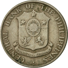 Coin, Philippines, 10 Centavos, 1958, EF(40-45), Copper-Nickel-Zinc, KM:188