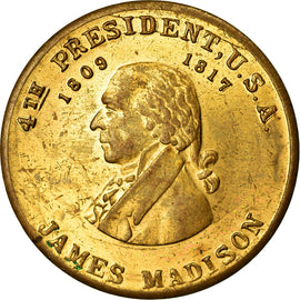 United States of America, Token, James Madison, 4th President, 1817, AU(55-58)