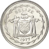 BELIZE, 50 Cents, 1977, Franklin Mint, KM #50, MS(65-70), Copper-Nickel, 27.7,..