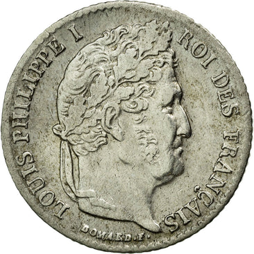 Coin, France, Louis-Philippe, 1/4 Franc, 1841, Lille, EF(40-45), Silver