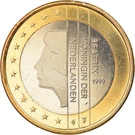 Netherlands, Euro, 1999, BE, MS(63), Bi-Metallic, KM:New