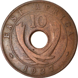 Coin, EAST AFRICA, George V, 10 Cents, 1927, EF(40-45), Bronze, KM:19