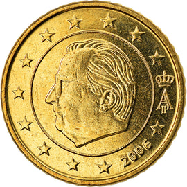 Belgium, 50 Euro Cent, 2006, Brussels, MS(63), Brass, KM:229