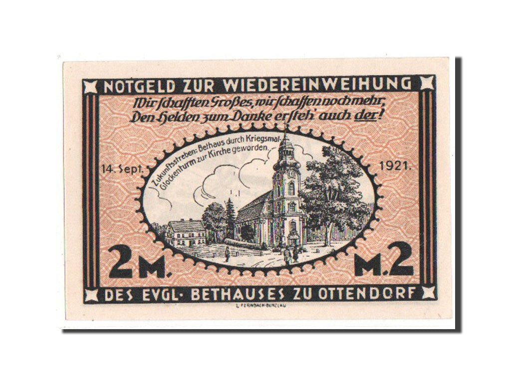 Germany, Schlesien, 2 Mark, 1921, UNC(65-70), Mehl #1038.1