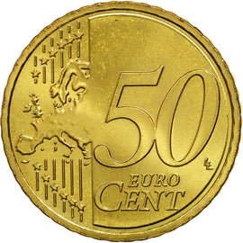 Lithuania, 50 Euro Cent, 2015, MS(63), Brass