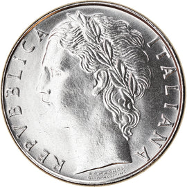 Coin, Italy, 100 Lire, 1985, Rome, MS(65-70), Stainless Steel, KM:96.1