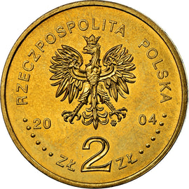 Coin, Poland, 2 Zlote, 2004, Warsaw, MS(60-62), Brass, KM:516
