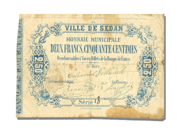 FRANCE, Sedan ou La Tour A Glaire, 2,50 Francs, 1871, VF(30-35), Jérémie #...