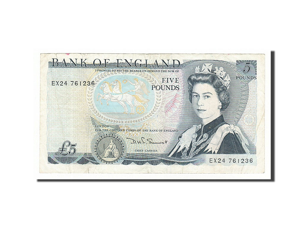 Great Britain, 5 Pounds, 1987, KM #378e, EF(40-45), EX24 761236