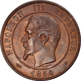 Coin, France, Napoleon III, Napoléon III, 10 Centimes, 1854, Paris, MS(60-62)