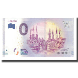 Germany, Tourist Banknote - 0 Euro, Germany - Lübeck - Porte de Holstentor -
