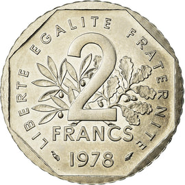 Coin, France, Semeuse, 2 Francs, 1978, Paris, ESSAI, MS(64), Nickel, KM:E119