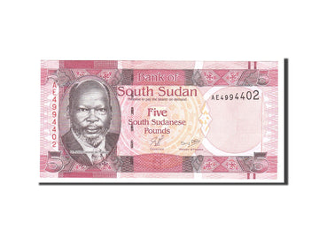 South Sudan, 5 Pounds, 2011, Undated, KM:6, UNC(65-70)