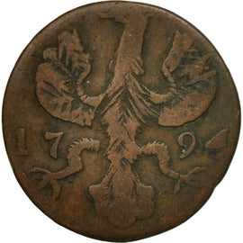 Coin, German States, AACHEN, 12 Heller, 1794, Berlin, F(12-15), Copper, KM:51