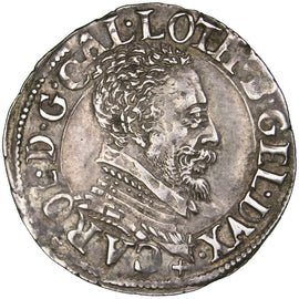 Coin, France, 1/4 Teston, Nancy, AU(55-58), Silver, Boudeau:1534