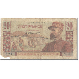 Banknote, French Equatorial Africa, 20 Francs, 1947-1952, Undated (1947-52)