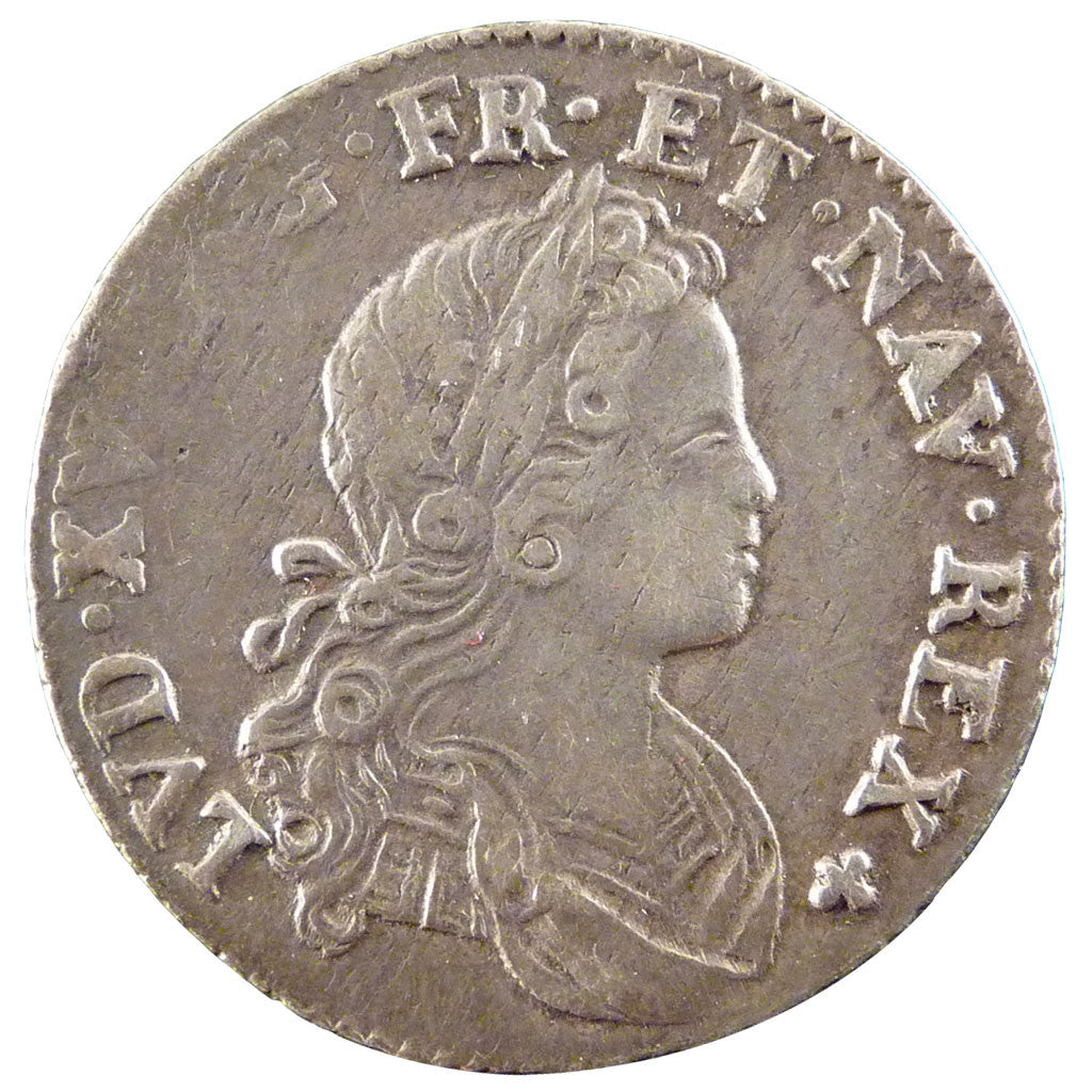FRANCE, 1/6 Écu (XX – S) de France-Navarre, 20 Sols, 1/6 ECU, 1719, Paris, KM...