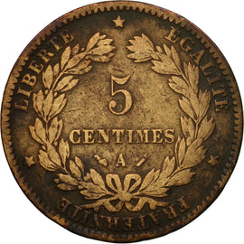 Coin, France, Cérès, 5 Centimes, 1883, Paris, VF(30-35), Bronze, KM:821.1