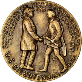 Sweden, Medal, Swedish Council of America, 1976, Wattenberg, MS(63), Bronze