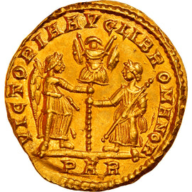 Coin, Magnentius, Solidus, 351-353, Arles, Very rare, MS(60-62), Gold, RIC:132