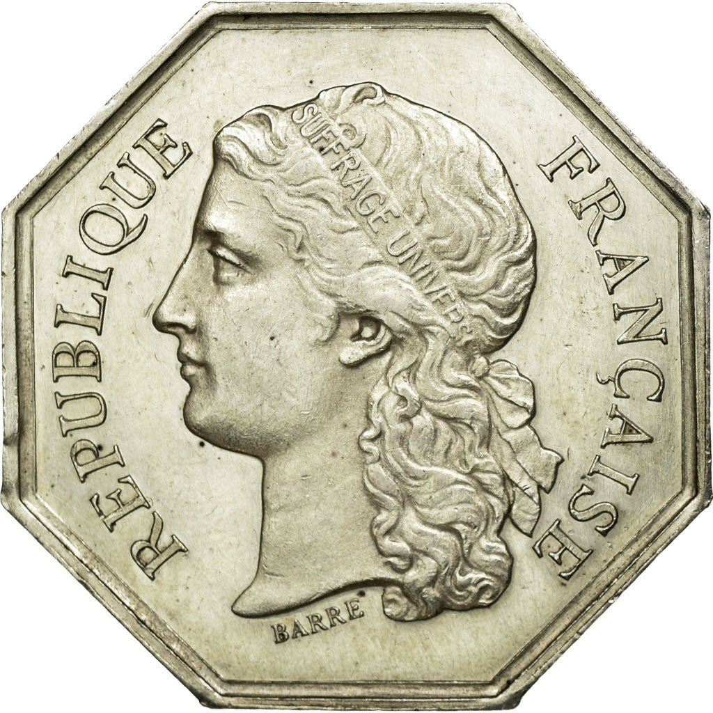 France, Token, Instruction and Education, AU(50-53), Silver