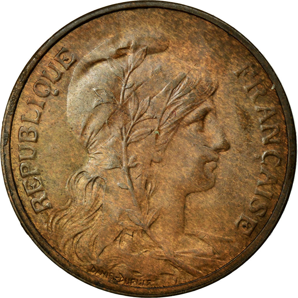 Coin, France, Dupuis, 5 Centimes, 1909, MS(60-62), Bronze, Gadoury:165