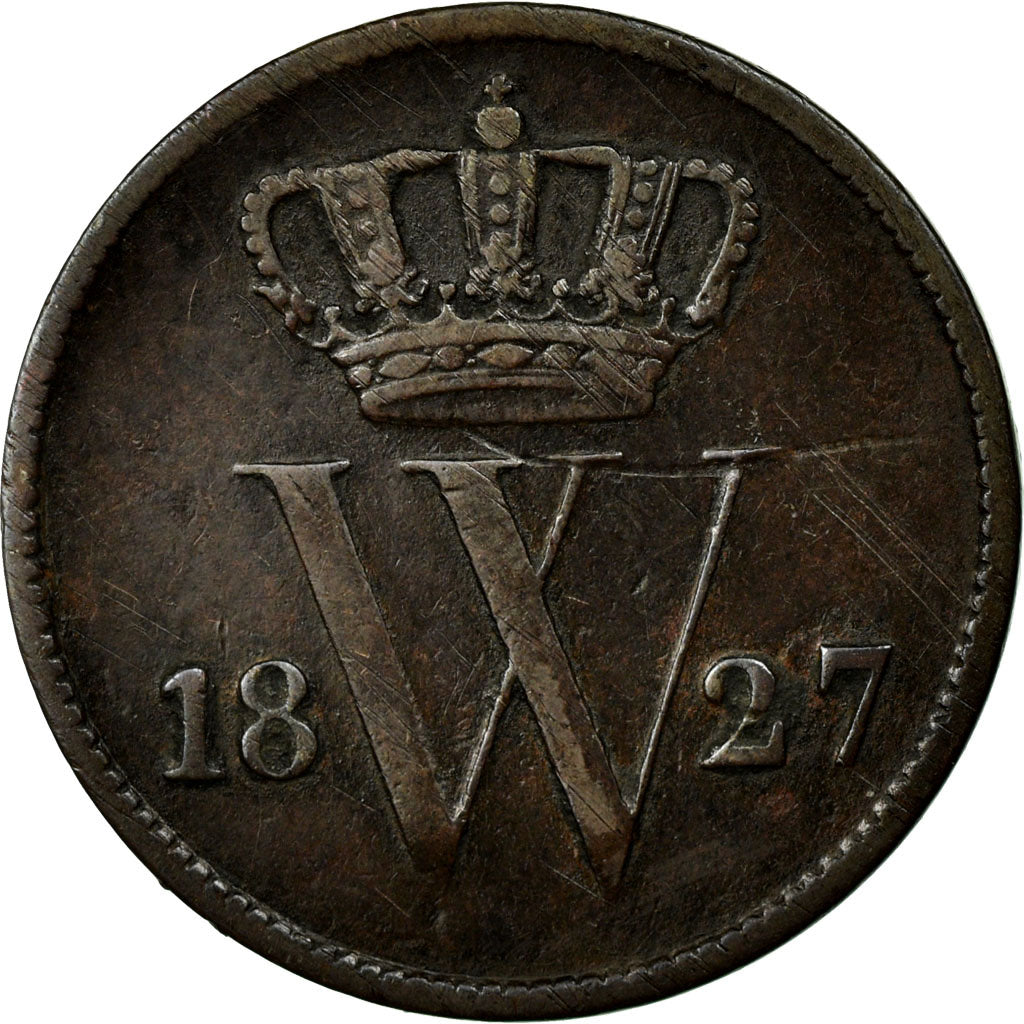 Coin, Netherlands, William I, Cent, 1827, VF(30-35), Copper, KM:47